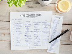 Sicher dir deinen Meal-Planner: Laden, Ausdrucken, Losplanen