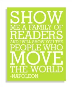 Reading as a family is important!