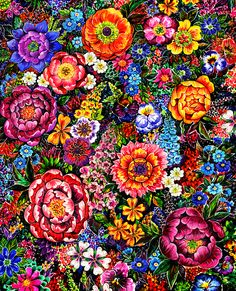 Floral textile pattern by Sunny Gu, created for Brazilian clothing brand ALFREDA Winter 2015 collection.