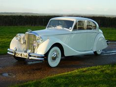 1949 Jaguar MkV - This is your wedding transport, so lets make sure we choose you a dress that will be show stopping when you step out of it!