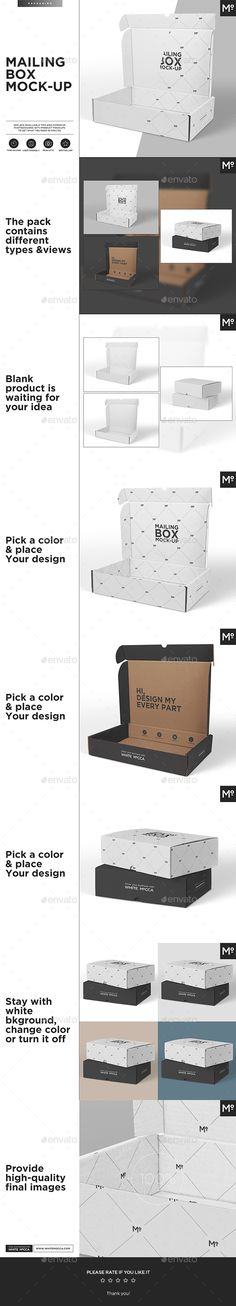 Mailing #Box #Mock-up - #Miscellaneous Print Download here: https://graphicriver.net/item/mailing-box-mockup/19730602?ref=alena994