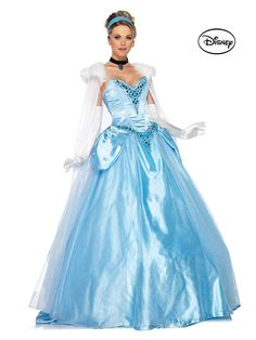 Deluxe Princess Cinderella Ball Gown Costume | Cheap Disney Princess Costumes for Adults
