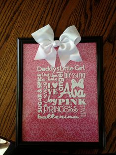 Personalized word collage by AshleyHolwerdaCrafts on Etsy, $18.00