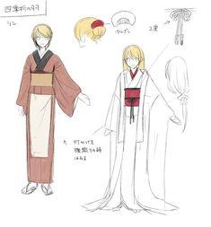 Shikiori no Hane - Kagamine Rin Anime Kimono, Character Outfits, Character Art, Character Design, Japanese Outfits, Japanese Fashion, Yukata, Drawing Reference Poses, Art Reference