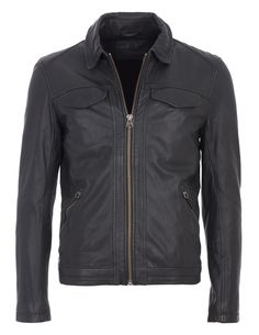 GUESS - Lederjacke Outlet, Leather Jacket, Fashion, Fall Winter, Jackets, Studded Leather Jacket, Moda, Leather Jackets, Fashion Styles