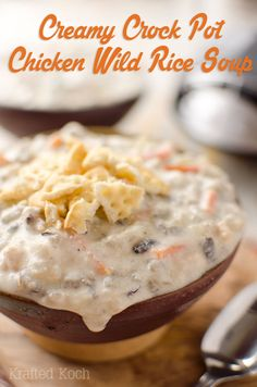 Creamy Crock Pot Chicken Wild Rice Soup ~ Page 2 of 2 ~ The Creative Bite