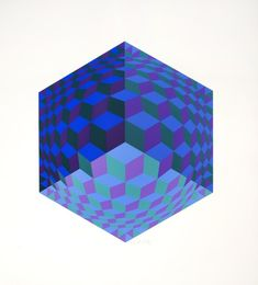 Victor Vasarely, Hat Leg, 1972 on Paddle8