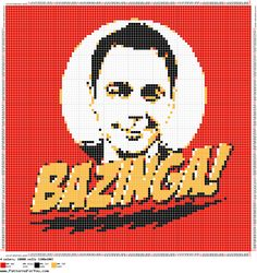Sheldon - Bazinga! - The Big Bang Theory pattern