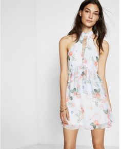 Express petite floral print tiered edition fit and flare dress What I Wore, What To Wear, Dope Fashion, Fashion Outfits, Flare Dress, Fit And Flare, Floral Prints, Clothes For Women, Dresses