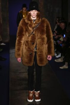 Coach reintroduces shearling into its fall-winter 2016 men's collection.