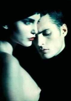 Nadja Auermann   by Paolo Roversi, Vogue UK.