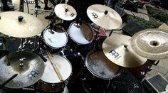 Beautiful #MeinlCymbals setup belongs to #MeinlPune artist #SaketRao