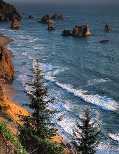 ~~Oregon Coast Seastacks ~last light touches seastacks on the Oregon Pacific Coast by paulgillphoto~~