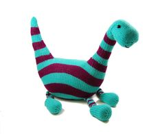 Brontosaurus pattern from Danger Crafts. wonder if I can find an old sweater at goodwill