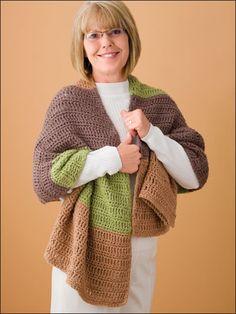 Absolutely Organic Shawl Free Crochet Pattern