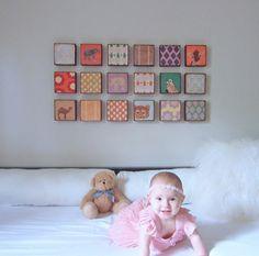 Love this handmade wood Nursery Art Block Set l Choose 18 EIGHTEEN of our by redtilestudio