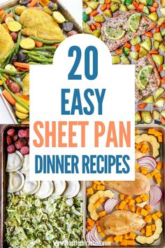 Sheet pan dinners are a life-saver on busy weeknights. Everything cooks on one pan and finishes cooking at the same time. And better yet, clean up is so easy. These Easy Sheet Pan Dinner Recipes will become regulars in your dinner rotation. #sheetpandinner #easydinnerrecipes Cheap Healthy Meal Plan, Quick Easy Healthy Meals, Honey Balsamic Chicken, Weeknight Recipes, Dinner On A Budget, Easy Family Dinners, Quick Dinner Recipes, High Protein Recipes, Sheet Pan