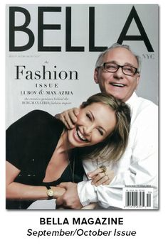As Seen In - BELLA, July/August Issue