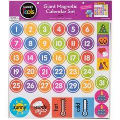 """DOWLING MAGNETS Giant Magnetic Calendar Set 17.5""""X13.5"""" 94pcs-"""