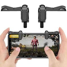 Cellphonez Gaming Trigger Fire Button Gaming Shooter Controller PUBG Black for Smartphones. Monitor, Button Game, Samsung S9, Game Controller, Mobile Accessories, L Shape, Smartphone, Abs, Fire