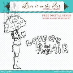 Free Love is in the Air Digital Stamps