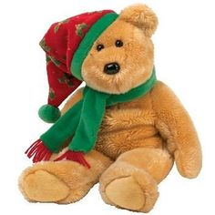 Ty Beanie Buddy 2003 Holiday Teddy Bear Plush Stuffed Animal Hat Scarf Cute for sale online Beanie Bears, Beanie Buddies, Ty Bears, Animal Hats, Classic Collection, Big Eyes, Plushies, Cool Toys, Teak