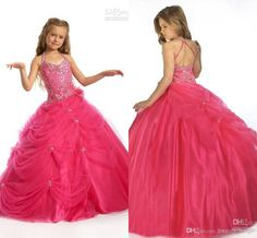 Wholesale Cute pink ball gowns halter sequins beaded ruffles tulles sleeveless backless floor length girl's pageant dresses 1403, Free shipping, $82.47/Piece | DHgate Mobile