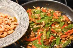 Heta räkor i chili och vitlök - Johanna Toftby Kung Pao Chicken, Pasta Salad, Green Beans, Chili, Vegetables, Ethnic Recipes, Crab Pasta Salad, Chile, Vegetable Recipes