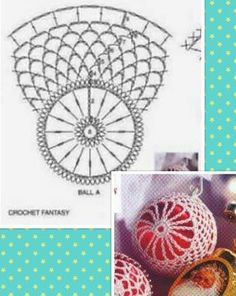 Crochet ideas that you'll love Quilted Christmas Ornaments, Crochet Christmas Ornaments, Crochet Snowflakes, Christmas Crafts For Gifts, Beaded Ornaments, Handmade Ornaments, Christmas Baubles, Crochet Doily Rug, Crochet Ball