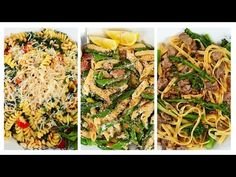 3 *NEW* Pasta Recipes | Spring Inspired Ideas - YouTube
