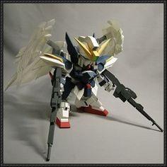 SD XXXG-00W0 Gundam Wing Zero Free Gundam Paper Model Download