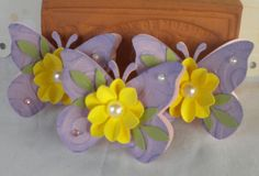 Sweet Butterfly Embellishments. Spring by KindrasCreations on Etsy
