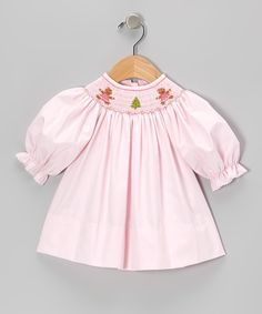 Take a look at this Light Pink Gingerbread Bishop Dress - Infant & Toddler on zulily today!