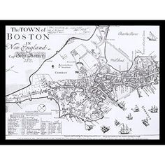 This wonderful early map of Boston was done by Capt. John Bonner in It is said to be the earliest map of Boston showing the actual streets and buildings that existed in that year. All of our pri Framed Art Prints, Poster Prints, Boston Map, Cartography, Plexus Products, Unique Art, Brown And Grey, Picture Frames, Graphic Art