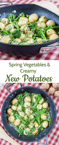 This delicious recipe for creamy new potatoes with spring vegetables is the perfect way to enjoy the finest of the season's new potatoes