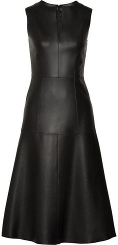 The Row - Filpen paneled leather dress Curvy Girl Fashion, Look Fashion, Womens Fashion, Steampunk Fashion, Gothic Fashion, Leather Dresses, Latex Fashion, Missoni, Lanvin