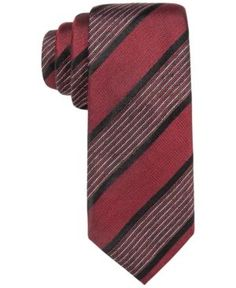 Alfani Men's Sullivan Stripe Slim Tie, Only at Macy's - Red