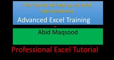 You can build your own sales dashboard using advanced excel tools, where information can be made available on one click. This tutorial will teach you to buil. Sales Dashboard, Management, Teaching, Tools, Instruments, Teaching Manners, Learning