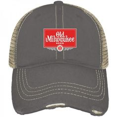 e6ac1a5e3951a Shop Old Milwaukee Pabst Brewing Company Retro Brand Vintage Mesh Beer  Adjust Hat Cap Milwaukee Beer