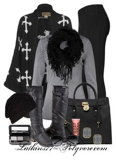 Cross Cardigan by latkins77 on Polyvore featuring polyvore fashion style Wildfox True Religion Hue MICHAEL Michael Kors Dorothy Perkins Boohoo AllSaints GUESS by Marciano Borghese Flirt