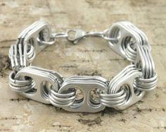 soda tab bracelet wrist size 6 6 3/4 or 7 1/2 inch by tabsolute