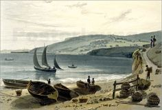 William Daniell - Lyme Regis, from Charmouth, Dorset