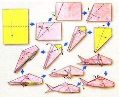 de origami Diagramme d'origami du zodiaque : les poissons, modèle 2 - Diagram of origami of the zodiac: the fishes, model 2 - Origami 3d, Dragon Origami, Design Origami, Origami Star Box, Useful Origami, Paper Crafts Origami, Origami Stars, Paper Crafting, Origami Marvel