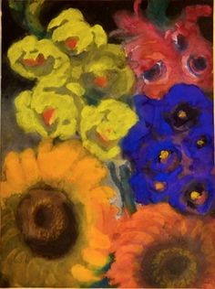 Sommerblumen by Emil Nolde contemporary artwork Emil Nolde, Art File, Contemporary Artwork, Printmaking, Watercolor, Fine Art, Floral, Painting, Artists
