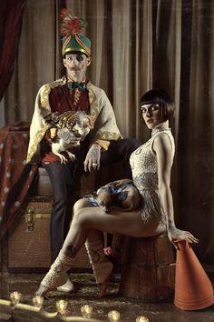 Circus life by Anna Lucylle Taschini, via Behance