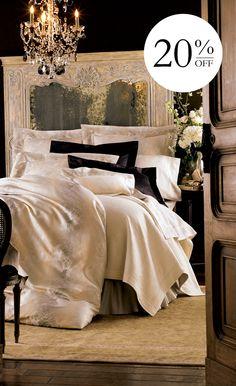 Elegant bedding.