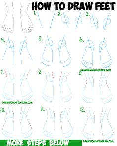 How to Draw Feet / the Human Foot with Easy Step by Step Drawing Tutorial for Beginners