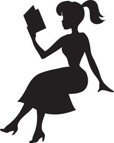 Pretty Young Girl Reading a Book In Silhouette - Royalty Free Clip Art Image Girl Reading Book, Woman Reading, Reading Art, Reading Books, Book Silhouette, Silhouette Cameo, Silhouettes, Photo Clipart, Books To Read For Women