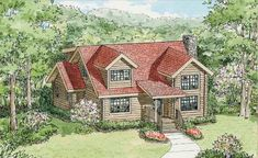 Fairfield Front Elevation -- Natural Element Homes