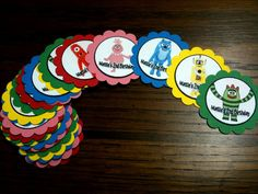 YGG personalized party favor tags